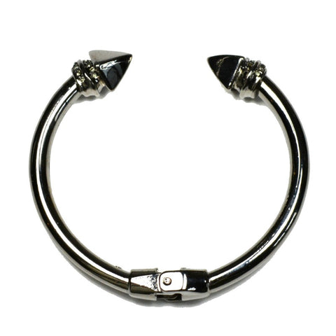 Spike Cuff - Gunmetal - A Jewelry Wonderland