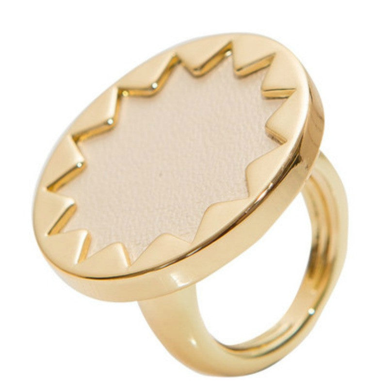 Sunburst Ring - Cream - A Jewelry Wonderland