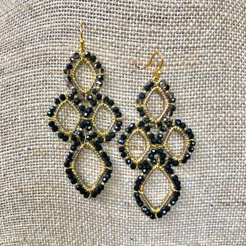 Black Clover Drop Earrings