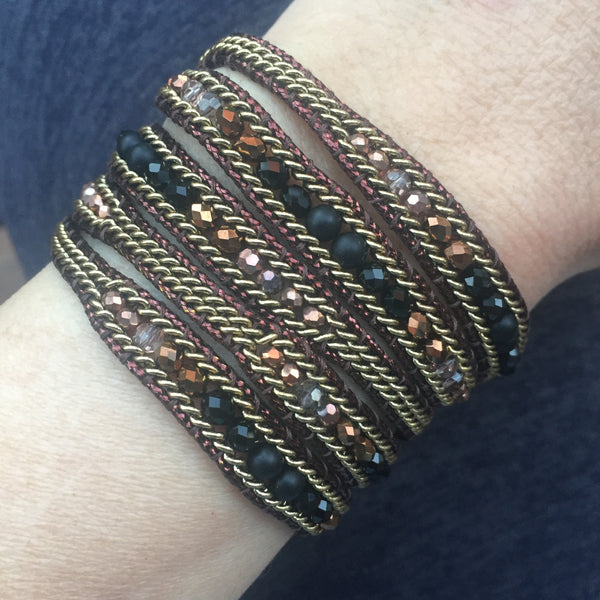 Wrap Bracelet - Bronze Mix
