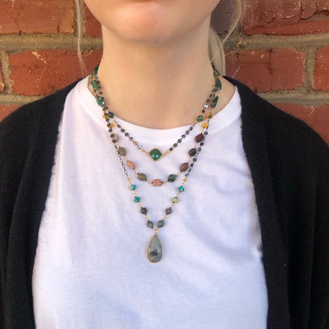 Labradorite Mix Pre-Layered Necklace