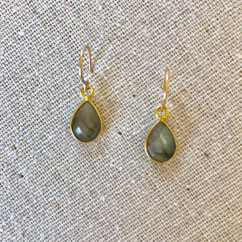 Mae Labradorite Drop Earrings