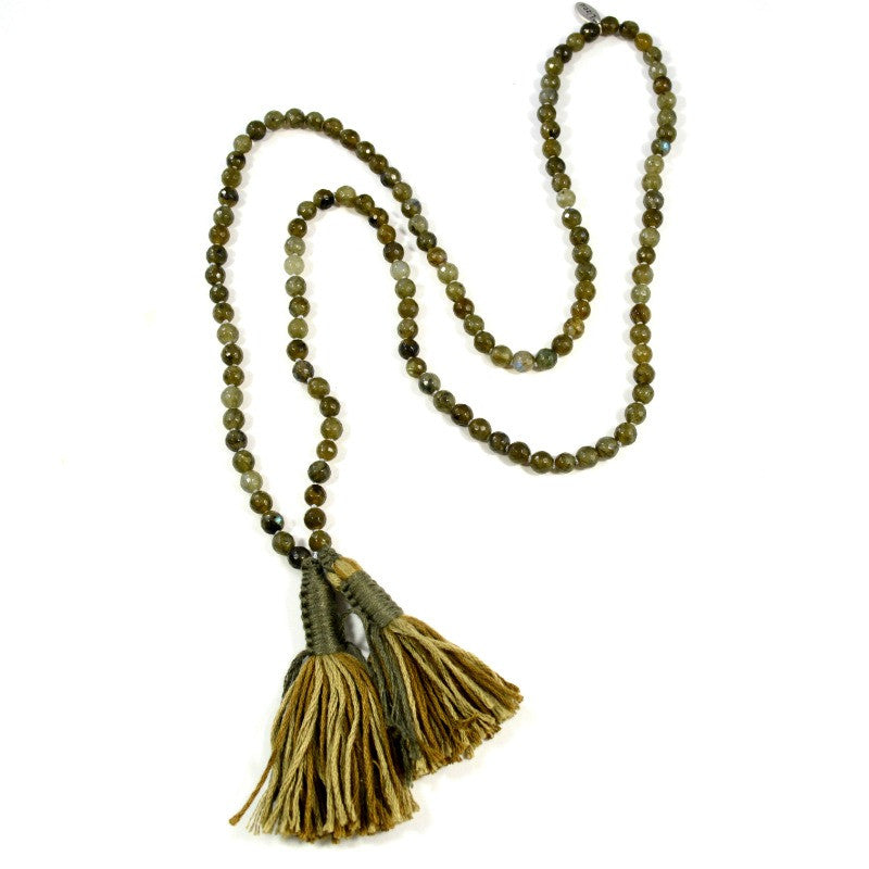 Tassel Necklace - Labradorite - A Jewelry Wonderland  - 1