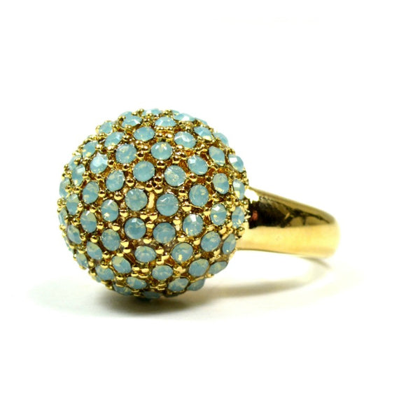Gladys Crystal Ring - Mint - A Jewelry Wonderland  - 1