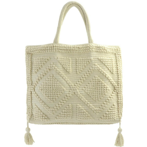 Meenu Tote - Cream - A Jewelry Wonderland  - 1