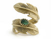 Light as a Feather Ring - Emerald/Gold - A Jewelry Wonderland  - 2