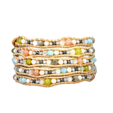 Scallop Wrap Bracelet - Natural Mix - A Jewelry Wonderland  - 1