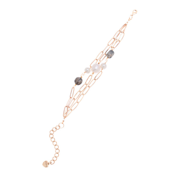 Pearl Mix Chain Bracelet