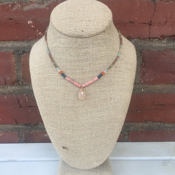 Lilian Necklace - Rose Quartz