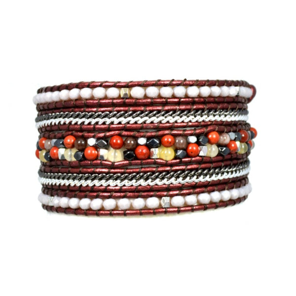 Wrap Bracelet - Sienna Mix - A Jewelry Wonderland  - 1
