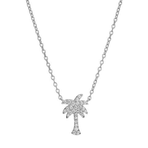 Palm Tree Necklace - White