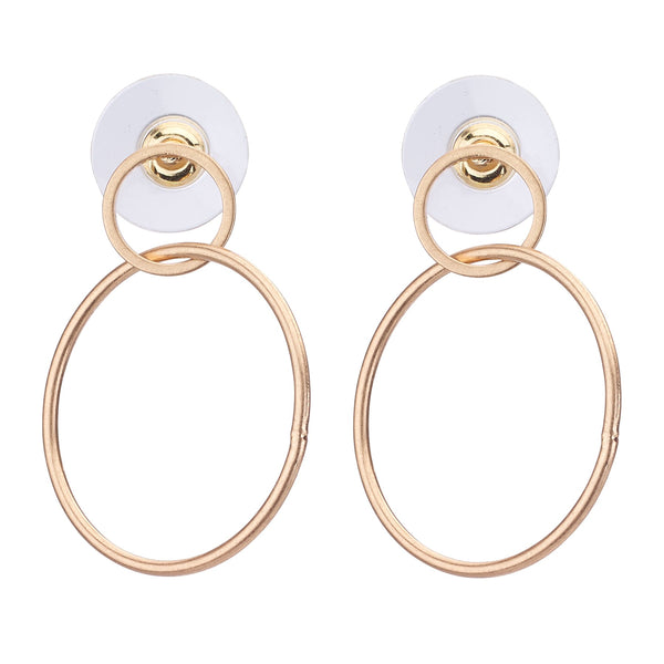 Double Hoop Earrings - Gold or Silver