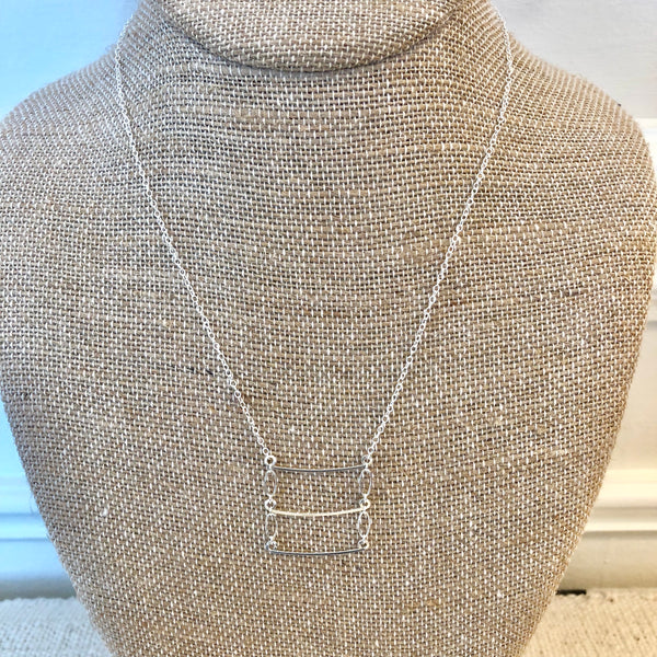 Ladder Necklace - Silver