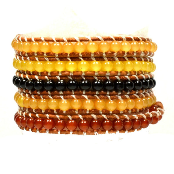 Wrap Bracelet - Topaz Multi - A Jewelry Wonderland  - 1