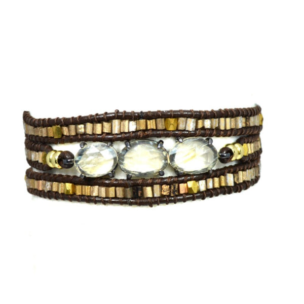 Wrap Bracelet with Stones - A Jewelry Wonderland  - 1