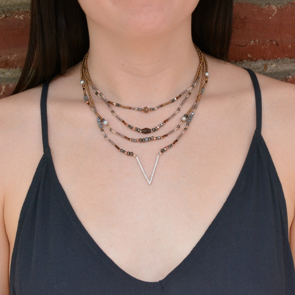 Yves Layer Necklace - Nude