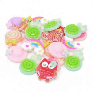 20 Mix Cute Resin Flatbacks