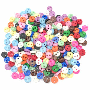 4mm Round Multicoloured Resin Buttons - Pack of 300