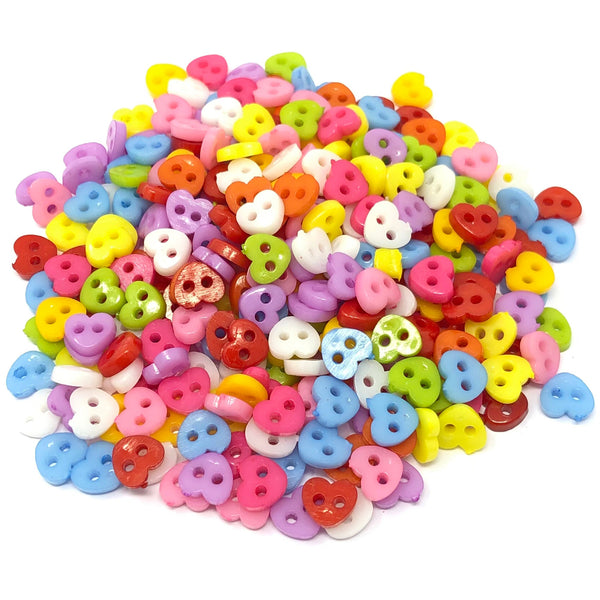 6mm Mixed Shape Multicoloured Resin Buttons - Pack of 300