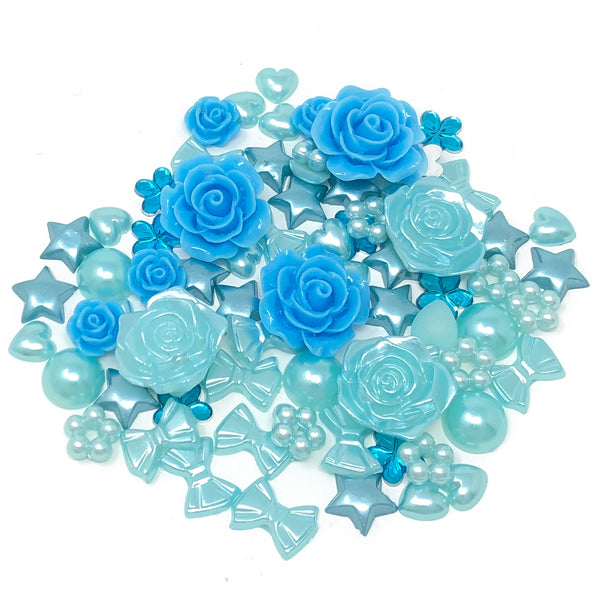 80 Mix Resin Craft Embellishment Flatbacks
