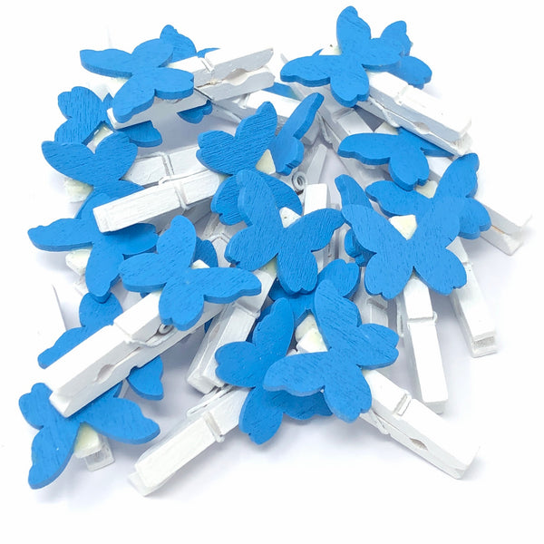 30mm Mini Clothes Pegs with 20mm Butterflies
