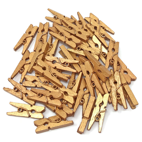 25mm Mini Coloured Wooden Clothes Pegs