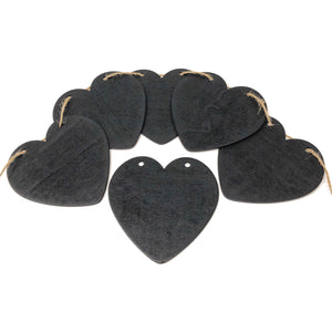 Heart Shape Wooden Chalkboard Wedding Bunting