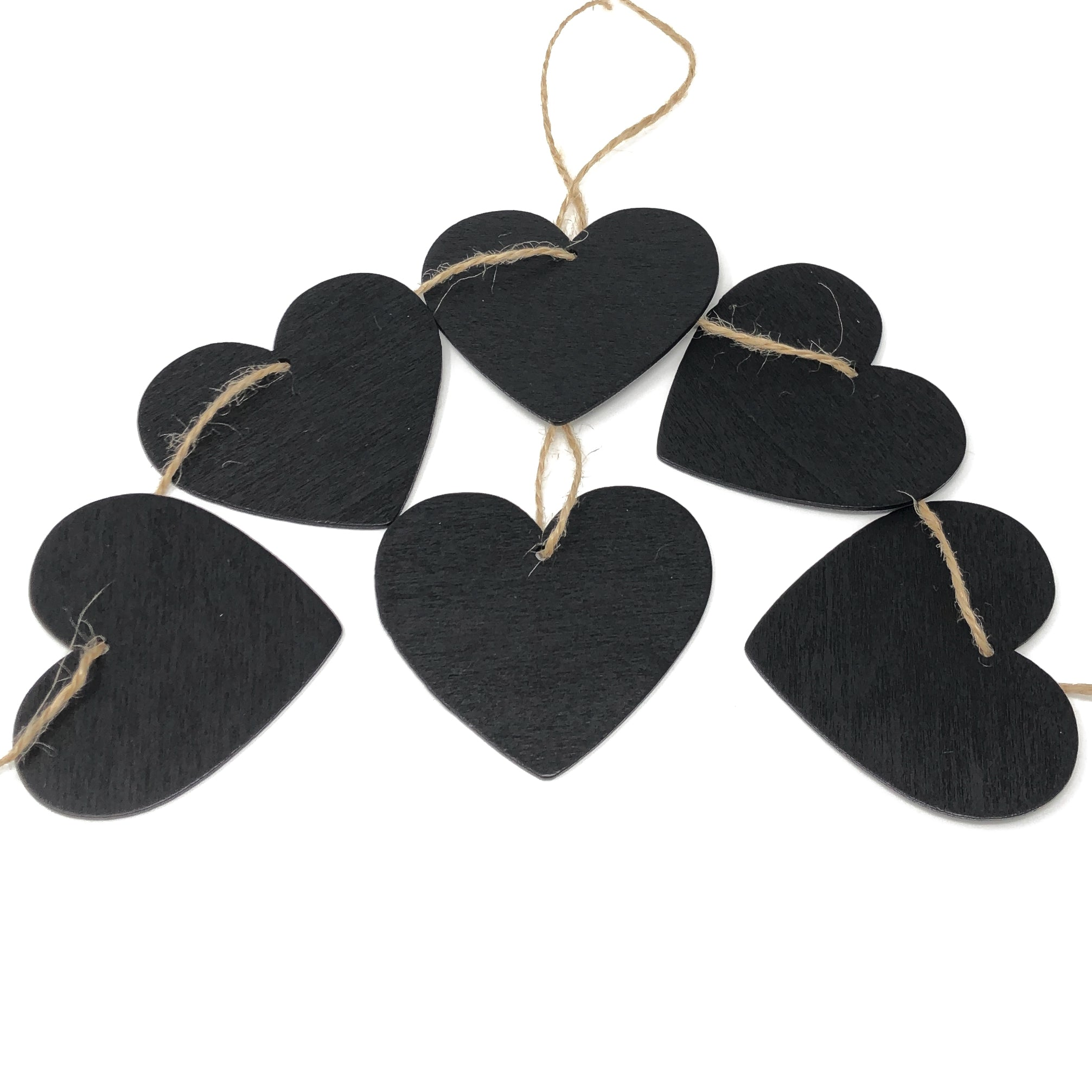 Mini Wooden Chalkboard Hearts for Wedding Table Name Tags
