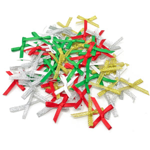 3mm 30x20mm Christmas Ribbon Bows - Pack of 75
