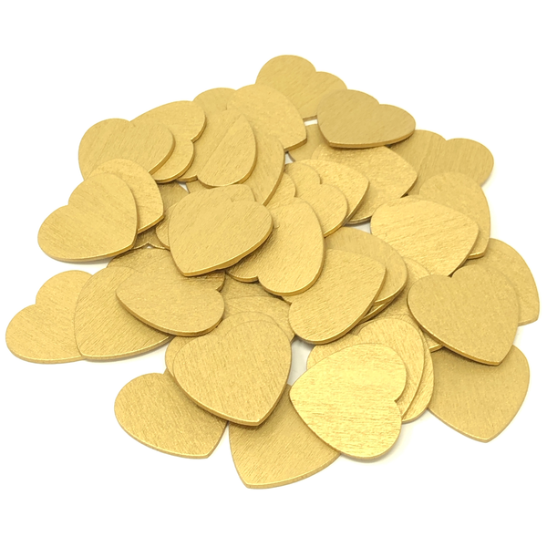 28mm Wooden Craft Coloured Hearts