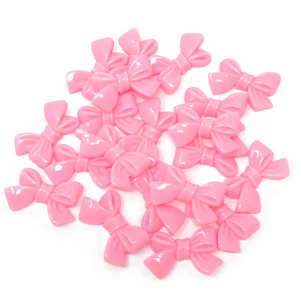 25mm Resin Bow Flatbacks - Pack of 20