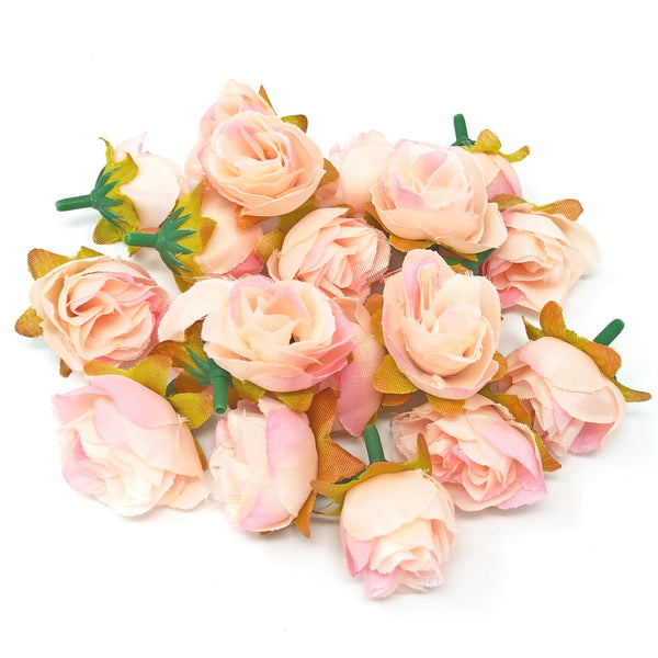 25mm Synthetic Rose Bud Flowers (Faux Silk) - Mini Rose Buds