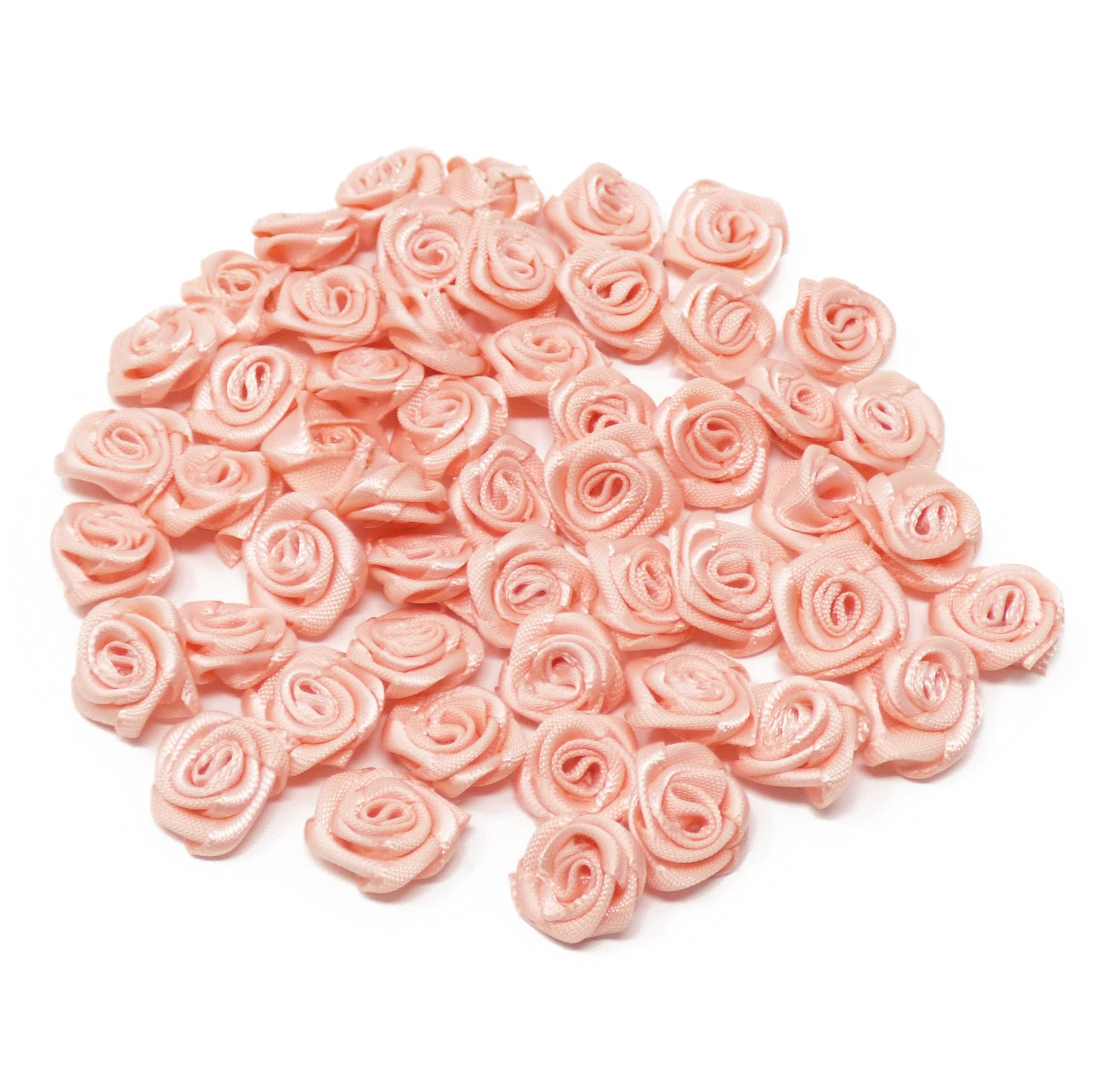 15mm Miniature Satin Ribbon Roses