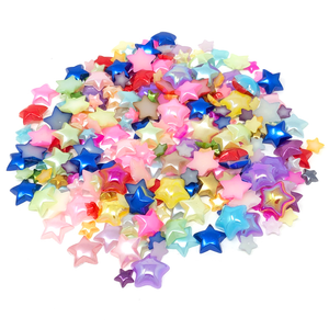 Mini Resin Mixed Size Star Half Pearls (Pack of 500 Approx)
