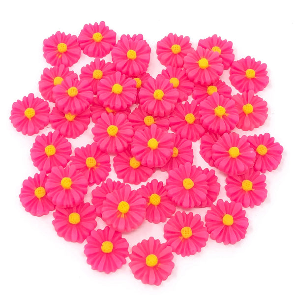 13mm Daisy Flatbacks - Pack of 45