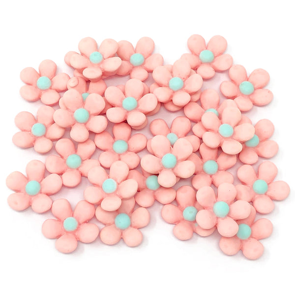 18mm Soft Feel Daisy Flatbacks - Pack of 30