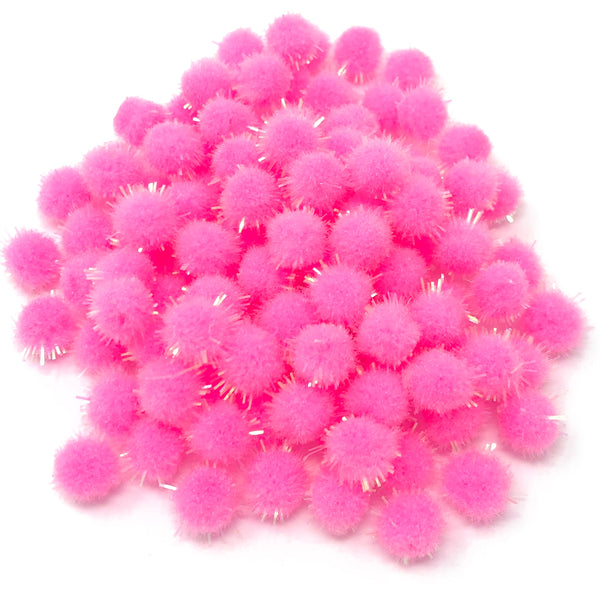 8mm Mini Glitter Pom Poms