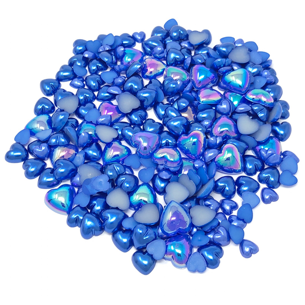 Mini Resin Mixed Size Heart Half Pearls (Pack of 500 Approx)