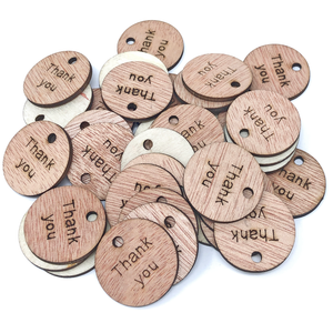 25mm Wooden Craft Round Tags