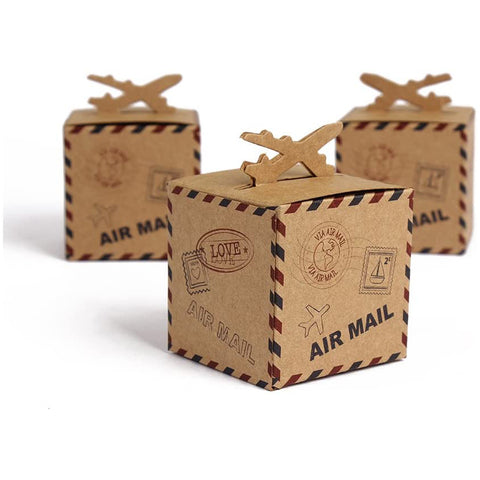 Rustic Airplane Inspired Wedding Favour Boxes