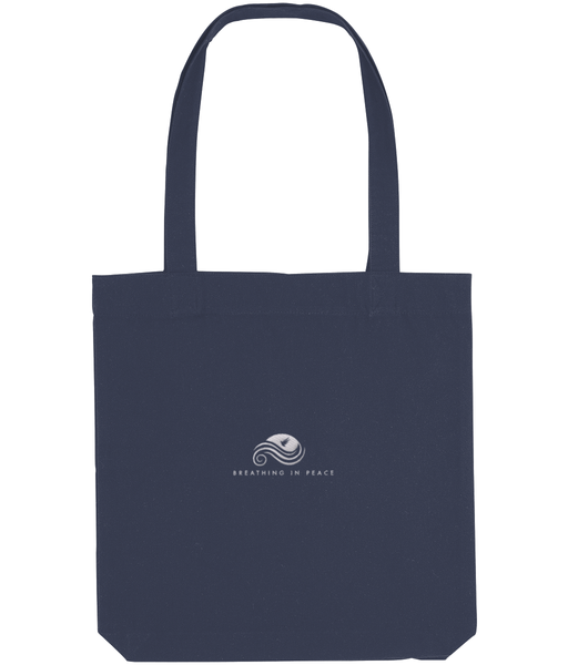 Embroidered Tote Bag -  Breathing in Peace Logo