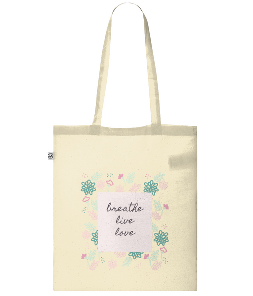 Classic Shopper Tote Bag breathe live love