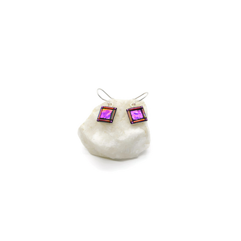 Purple Bling Earrings square