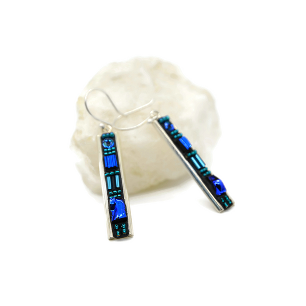 Blue Deco Earrings