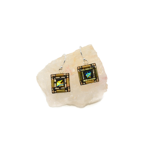 Gold Bling Earrings square