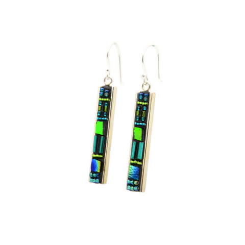Green and Blue Deco Earrings