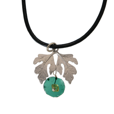 Roman Glass Oak Leaves Pendant