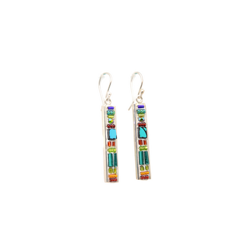 Parrot Colors on White Deco Earrings