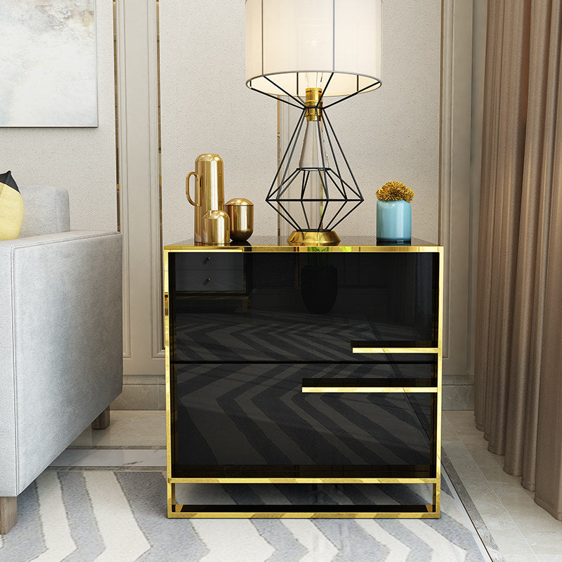 Light Luxury chest of 2 drawers beside table - IdeaHome24 - Home Decor ideahome24.com