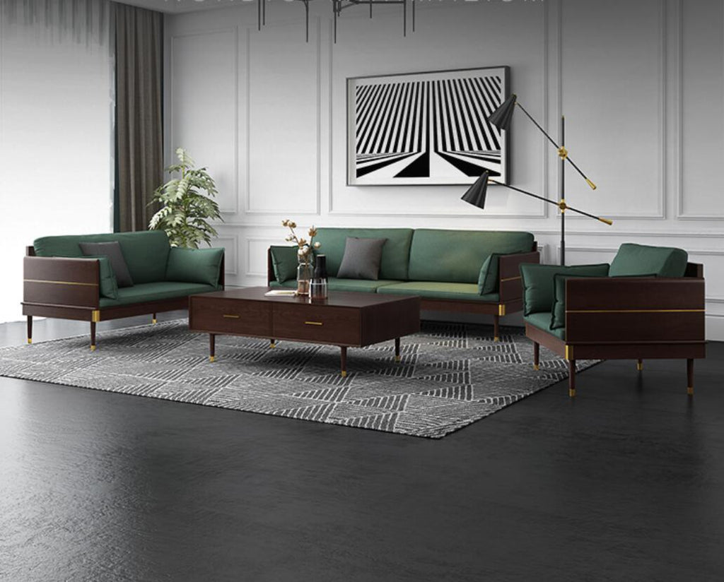 Nordic Style Wood with Fiber Italy Design Sofa (1+1+3 Seat) - IdeaHome24 - Home Decor ideahome24.com